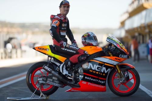 2015 NGM Forward Racing MotoGP Preseason Test Valencia GP